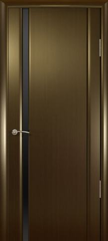 Дверь Шторм-1 стекло тонированное (венге, остекленная шпонированная), фабрика Океан