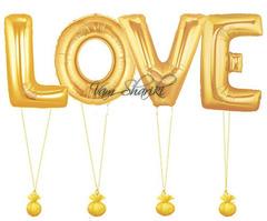 "Буквы ""LOVE"" золото"
