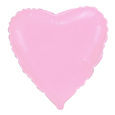 Шар-сердце нежно-розовый, 45 см
