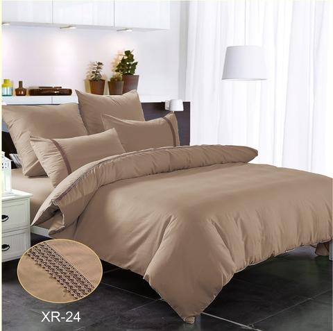 1.5-Спальное однотонное постельное коричневое