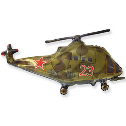 Фигура фольга Вертолёт со звездой