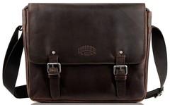 Сумка Klondike Digger Joe, темно-коричневая, 28x32x8 см