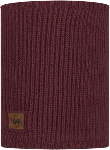 Вязаный шарф-труба с флисом Buff Neckwarmer Knitted Polar Rutger Maroon фото 1