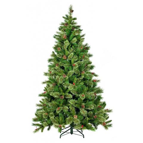 Искусственная Новогодняя Ель Регина Шишки+Ягоды 155 см (Black Box)