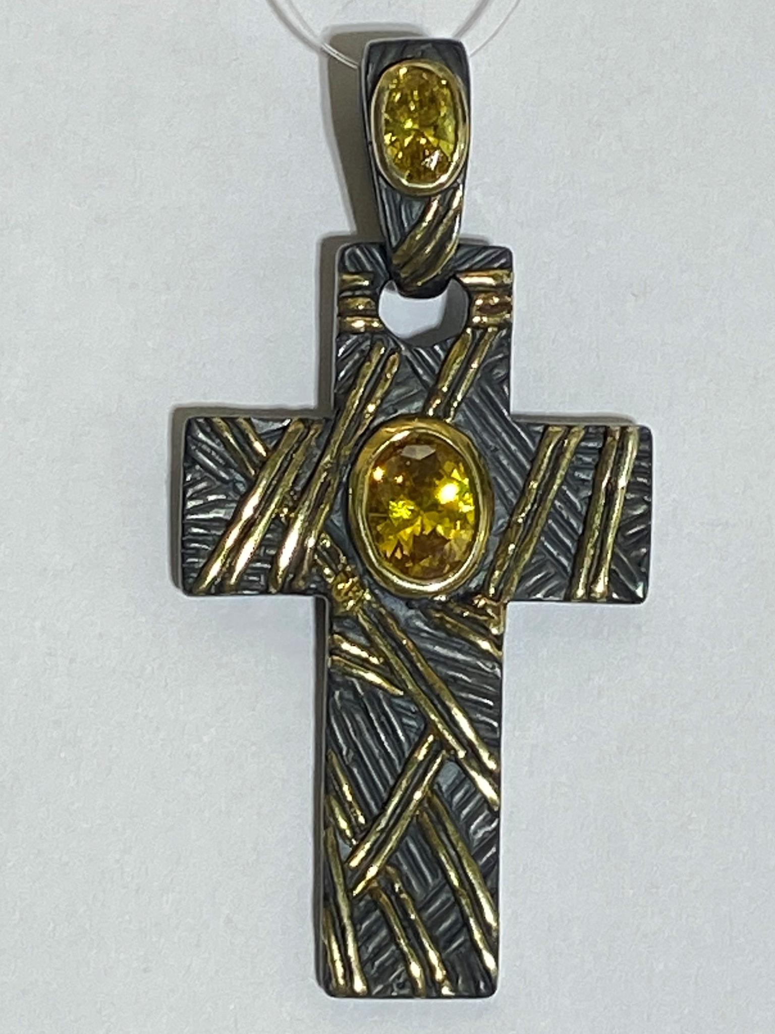 Крест 172Ч (подвеска из серебра)