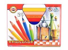 Карандаши цветные jumbo TRIOCOLOR 3154, 24 цвета