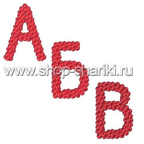 Буквы из меленьких воздушных шаров