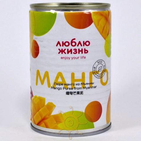 Пюре манго без сахара Люблю Жизнь, 450г