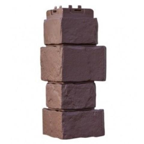 Угол наружный Гранд Лайн Крупный камень коричневый 415х170 мм