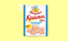 КРАХМАЛ КАРТОФЕЛЬНЫЙ сорт экстра 70 гр.