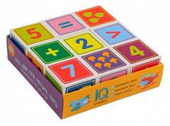 Умные кубики в поддончике. 9 штук. Раз, два, три, четыре, пять