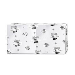 Салфетки бумажные Nega 24x24 см белые 1-слойные 250 штук в упаковке