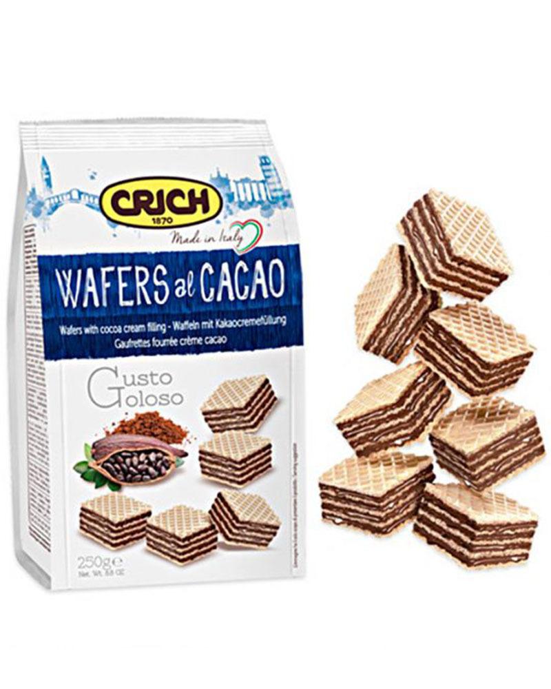 Вафли Crich с какао-кремовой начинкой, 250 гр.