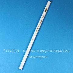Карандаш восковой белый для установки (приклеивания) страза (17 см)