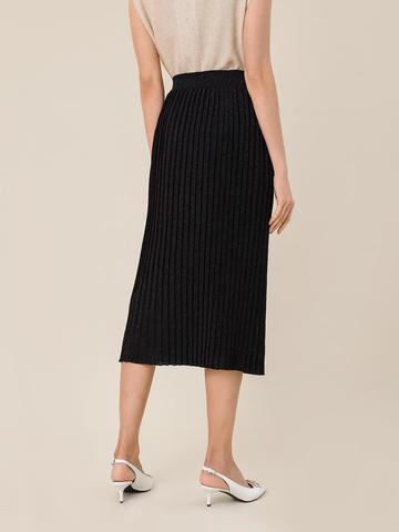Женская юбка черного цвета из вискозы - фото 3