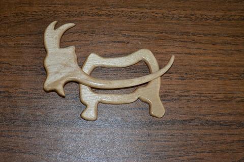 Заколка для трикотажа Козочка (натуральный цвет)