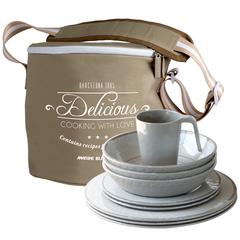 Melamine tableware pack Bali, 4 People