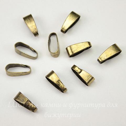 Бейл - петелька (цвет - античная бронза) 11х4 мм, 10 штук