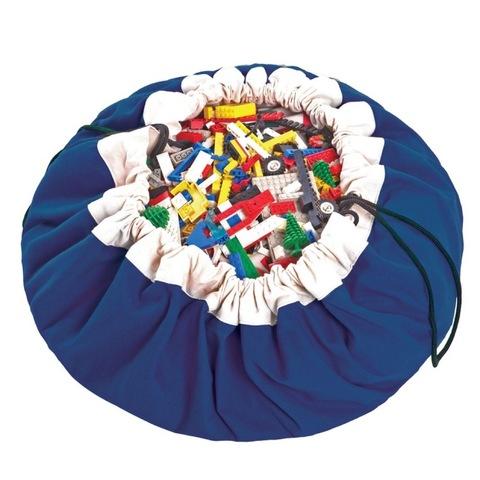 Коврик-мешок для игрушек (2 в 1) Play&Go Classic СИНИЙ 79952