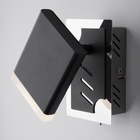 Светодиодный настенный светильник с поворотным плафоном 20000/1 черный
