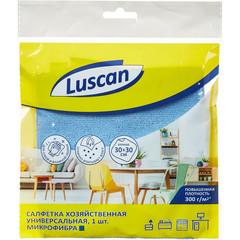 Салфетка хозяйственная Luscan универсальная микрофибра 300г 30х30см синяя