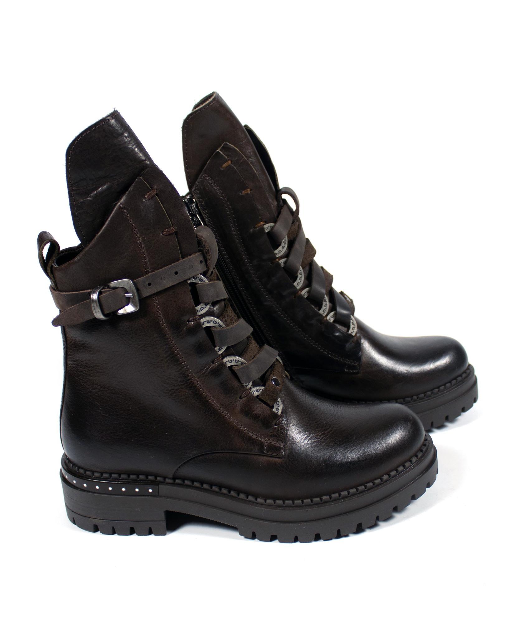 коричневые ботинки Mario Muzi