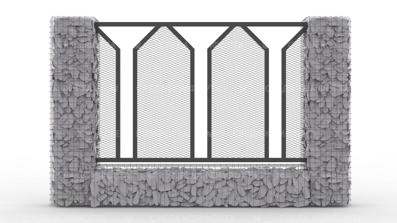 Забор из сетки рабицы ZBR0186
