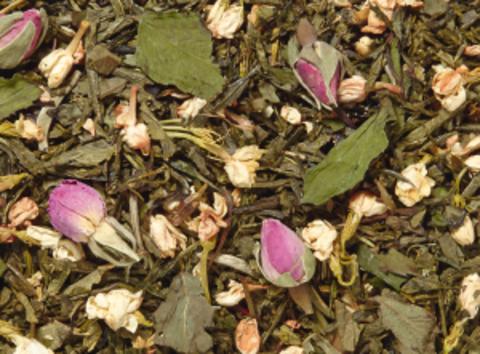 Купаж зеленого и белого чая О-Тон Минт (апельсиновый цветок-мята)