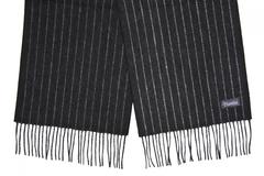 Шерстяной шарф, мужской в полоску черный 31291 SH1A