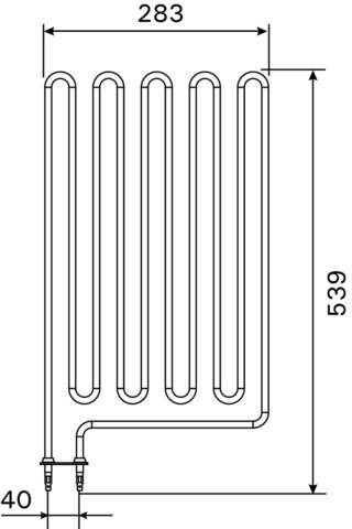 Нагревательный элемент Harvia ZCU-836 3600W
