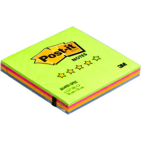 Стикеры Post-it Original Весенняя радуга 76x76 мм неоновые 4 цвета (1 блок, 100 листов)