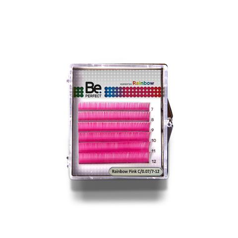 Цветные ресницы Be Perfect Rainbow Pink MIX 6 линий