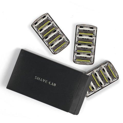 Shave Lab P.6 FOR MEN 6 лезвий, для мужчин. Набор сменных кассет- 12 шт