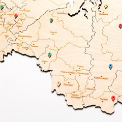 Карта России из дерева White фото 2