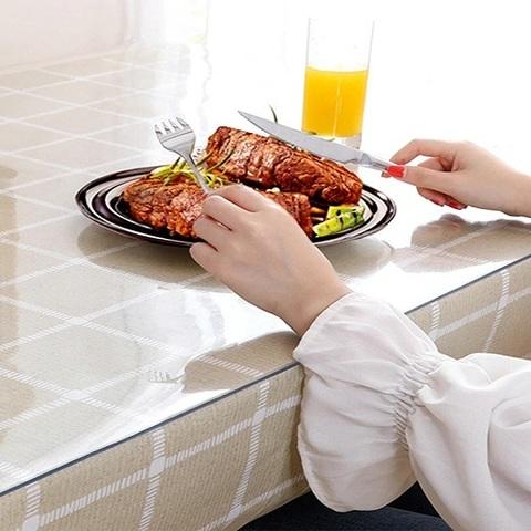 Мягкое стекло на кухонный стол ширина 80 см длина до 240см
