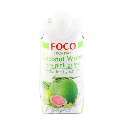 FOCO, Кокосовая вода с розовой гуавой, 330мл