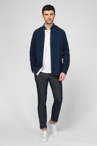 Мужская темно-синяя рубашка COTTON CASHMERE Tommy Hilfiger