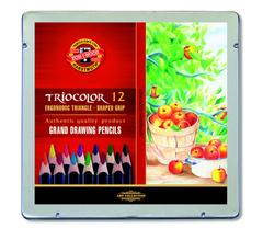 Карандаши цветные jumbo TRIOCOLOR 3162, 12 цветов