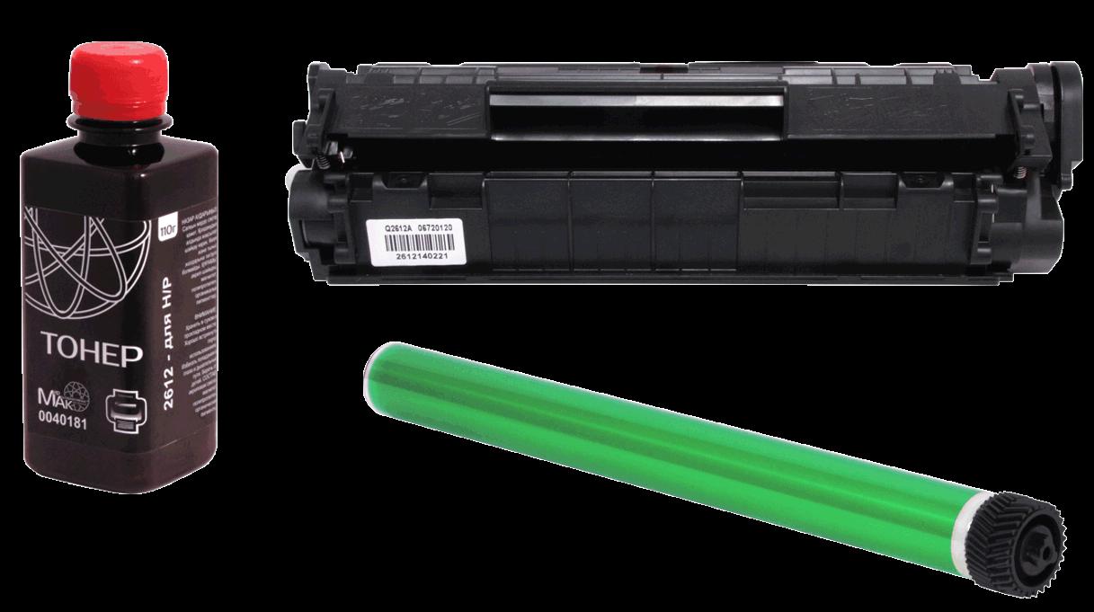 Заправка Kyocera TK-140 чёрный / black (без стоимости чипа)