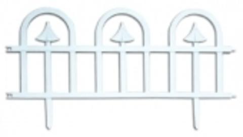 Заборчик пластиковый садовый Классика высота 32см длина 3м (5 секций)