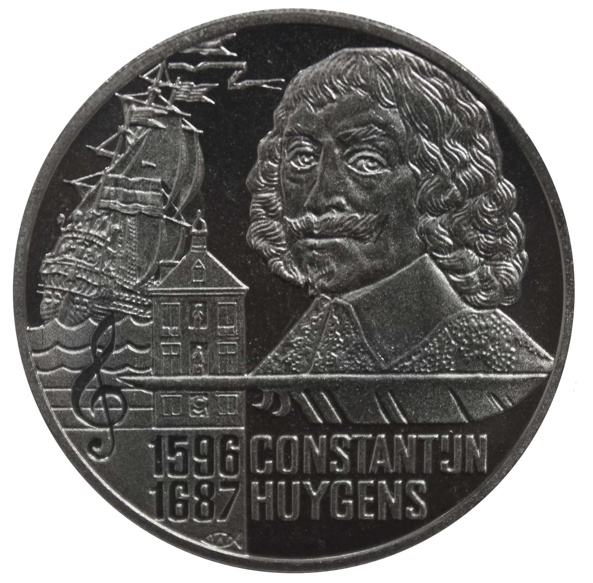 5 евро. Константин Хейгенс. Нидерланды. 1996 год PROOF