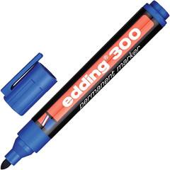 Маркер перманентный Edding E-300/3 синий (толщина линии 1.5-3 мм)