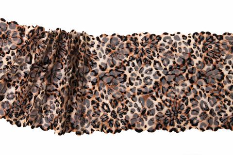 Кружево эластичное леопард 21 см