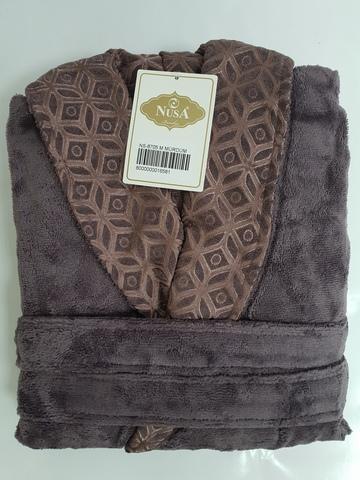 Халат женский махровый 8705 фиолетовый NUSA Турция