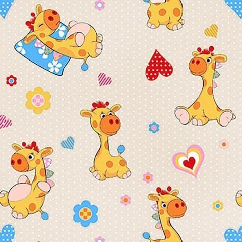 Поплин 150 см 1644/1 Жирафики цвет бежевый