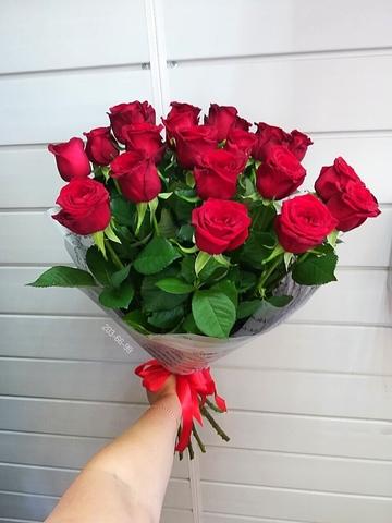 Букет из 21 голландской розы 50 см #6445