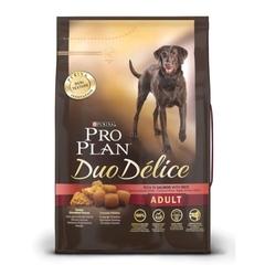 Сухой корм для взрослых собак, Purina Pro Plan  DuoDelice, с лососем и рисом