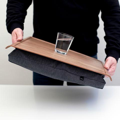 Подставка с деревянным подносом Anti-Slip, орех