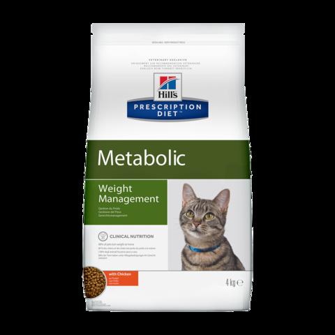Hill's Prescription Diet Metabolic Weight Management Сухой диетический корм для кошек с ожирением способствующий снижению и контролю веса с курицей