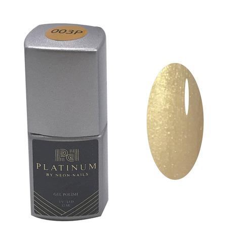 PLATINUM, гель-лак Bella Elvira № 003P , ( 12 ml) бежевый с золотым шиммером